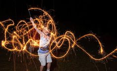 How to take cool photographs of kids playing with sparklers! Sparklers, Kids Playing, Photography Tips, Neon Signs, Fun, Blog, Image, Photographs, Photos