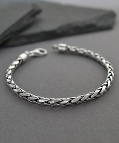 Another great find on #zulily! Sterling Silver Rope Chain Bracelet - Men #zulilyfinds