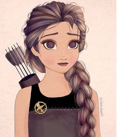 Katniss!!! Does anyone else think that she looks like a mix of Tris, Katniss, and Elsa combine?!? Like this if you do:)