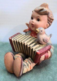 Goebel Hummel 'LET'S SING ' (Vintage, Accordian, Boy, Figurines Figures)