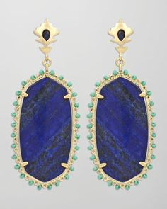 Dalton Earrings, Blue by Kendra Scott at Neiman Marcus.  Love these--from casual jeans to formal evenings.  #NMFallTrends