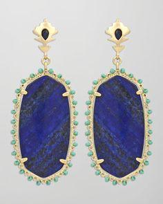 Kendra Scott Dalton Earrings, Blue - Neiman Marcus
