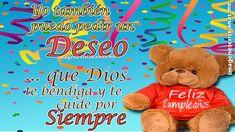 Feliz cumpleaños cristiano para dedicar muy lindo con imágenes Feliz Gif, Family Birthdays, Teddy Bear, Toys, Animals, Alba, Youtube, David, Celestial