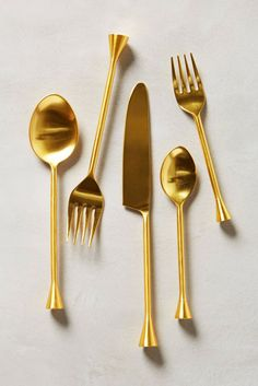 Treat yourself (or your guests) to a fancier-than-usual meal with this gilded flatware set. The gold stainless-steel and angular edges give each piece a simple yet unusual look. Pick up a couple of sets to add some charm to a simple dinner party, or, at the very least, style all those food Instagrams.