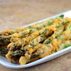 Beer-battered Asparagus