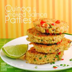 Ooh, Look...: Smoked Salmon Quinoa patties not suitable for cats