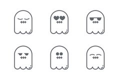 Holloween is upon us! Download these cute ghost vector icons and more at https://www.iconfinder.com/lsedesigns #holloween #icons #graphicdesign