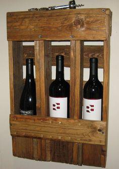 Wine bottle holder/ rack from reclaimed pallets by cmsinwa on Etsy, $40.00