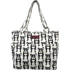 $34.48 - Bungalow360 Black Dog Canvas Pocket Bag ← PawSitively American Boston Terrier