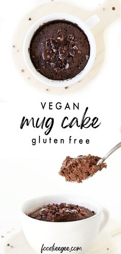 Best, easy vegan chocolate mug cake recipe made in the microwave or oven. Gluten free, oil free, no egg, dairy free and refined sugar free chocolate cake with oat flour for a quick healthy dessert / snack idea ready in just 1 minute! You only need 5 ingredients to make this simple, fluffy, gooey flourless microwave cake! #glutenfree #oatflour #vegan #mugcake #microwavemugcake #chocolatecake #healthydessert #vegandessert #healthysnackidea #veganchocolatecake #oilfree #refinedsugarfree #nobanana Healthy Chocolate Mug Cake, Sugar Free Chocolate Cake, Microwave Chocolate Mug Cake, Mug Cake Healthy, Chocolate Mug Cakes, Dairy Free Chocolate, Vegan Chocolate, Microwave Cake, Microwave Desserts