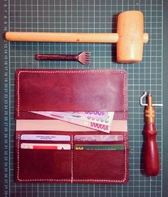 Leather wallet  Leather craft  Handmade  Shynoth