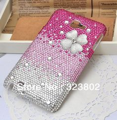 Aliexpress.com : Buy Bling Cell Phone Case or Cover For Samsung Galaxy Note I9220 Handmade Gradual Change Pink Rhinestone Clover Shell, Free Shipping from Reliable cover for i9220 suppliers on Cell Phone Case Rhinestone Button Bead Resin Craft Alloy Jewelry $27.00