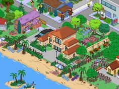Explore our Video Game Forums. Springfield Simpsons, Springfield Tapped Out, The Simpsons Game, What Have You Done, Electronic Art, Layout Inspiration, Ea, Sims, Villa