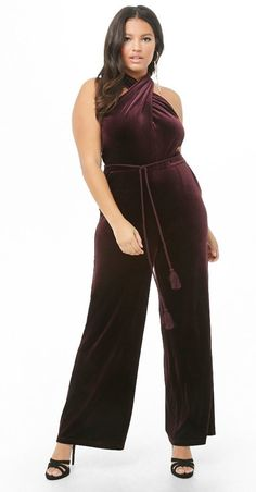 a2ad1fd9f83d A velvet jumpsuit sure to be the main spotlight stealer at your Galentine s  Day dinner. Get ready for a slew of compliments.