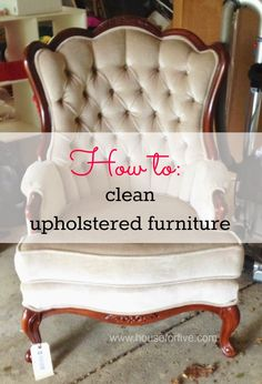 How To Clean Upholstery, Also Known As How To Get The Funk Out Of Thrifted…
