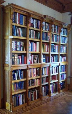 Amazing Bookshelves Design Ideas Living Room – Home Interior and Design Cool Bookshelves, Bookshelf Design, Bookcases, Bookshelf Wall, Old Libraries, Personal Library, Decoration, My Dream Home, Living Room Designs