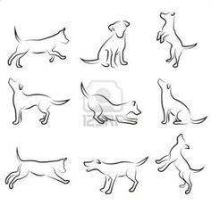 Resultado de imagem para desenho de cachorro vira lata preto