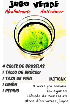 Anti cancer green juice: 4 brussels sprouts, broccoli, cup of pineapple, 1 lemon, 1 cucumber. Smoothies, Juice Smoothie, Cucumber, Healthy Life, Pineapple, Cancer, Yummy Food, Healthy Recipes, Healthy Food