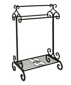 Another great find on #zulily! Black Scroll Towel Holder #zulilyfinds