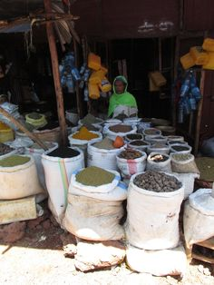 Spices at the local market in Bahir Dar, Ethiopia