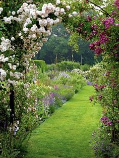 English country garden. My family was fortunate to live in two places like this…