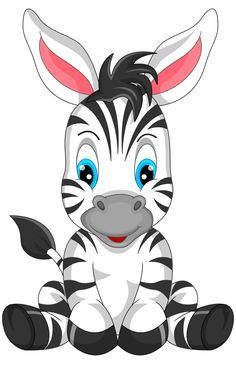 Cartoon Cartoon, Zebra Cartoon, Jungle Animals, Baby Animals, Cute Animals, Baby Clip Art, Baby Art, Animal Drawings, Cute Drawings