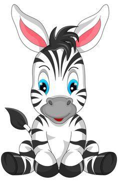 Фото, автор Soloveika на Яндекс.Фотках Cartoon Cartoon, Zebra Cartoon, Baby Clip Art, Baby Art, Cute Animal Drawings, Cute Drawings, Jungle Animals, Baby Animals, Cartoon Mignon