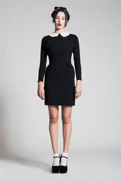 BLACK POCKETED CLAUDINE DRESS lecoledesfemmes