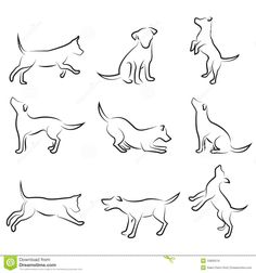 Dog drawing set