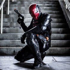 Incredible Red Hood cosplay. I like the little Lego figure hanging from his gun