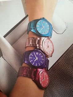 TOUS watches. Lovely shape & colors.