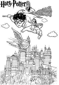 harry potter hogwarts castle coloring page Deco Harry Potter, Harry Potter Colors, Harry Potter Castle, Harry Potter Free, Harry Potter Classroom, Theme Harry Potter, Harry Potter Printables, Harry Potter Birthday, Harry Potter Hogwarts