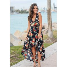 Short Sleeve Soft Dress Women 2020 Summer Boho Style Beach Casual Floral Print Long Elegant Party Dress Vestidos New Sexy Outfits, Boho Outfits, Fashion Outfits, Fashion Styles, Summer Outfits, Women's Fashion, Look Boho, Look Chic, Boho Style