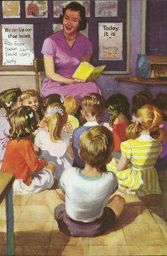 Ladybird Books - Reading a story