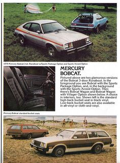 1979 Mercury Bobcat Runabout and Villager Station Wagon