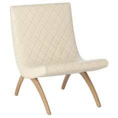 ARTERIORS Home Danforth Quilted Top Grain / Wood Chair