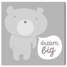 Big Canvas Art, Canvas Frame, Canvas Art Prints, Canvas Wall Art, Canvas Size, Grey Teddy Bear, Big Teddy, Bear Graphic, Graphic Art