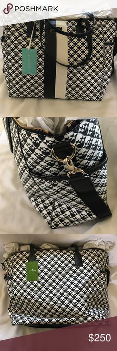 "Kate Spade Diaper Bag Brand New! Beautiful beautiful bag, my loss is your gain. Comes with a diaper pad, brand new never used.  Approximately dimensions   14"" L x 12.5"" x 7""  Handle drop: 9.5"" Strap drop: 17.25"" kate spade Bags Baby Bags"