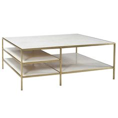 The Higgins Coffee Table in Brass by Dovetail is part an eclectic range of handmade furniture, accessories and textiles. Iron frame with brass finish Marble top and shelves Large Furniture, Handmade Furniture, Living Room Furniture, Kitchen Furniture, Marble Shelf, Marble Top, Dovetail Furniture, Brass Coffee Table, Coffee Tables