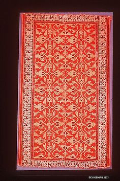 'Lotto' Carpet Object Name: Carpet Date: 16th century Geography: Turkey Culture: Islamic Medium: Wool (warp, weft and pile); symmetrically knotted pile