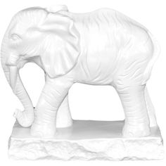 Urban Trends Collection White Ceramic Elephant Statue (54 CAD) ❤ liked on Polyvore featuring home, home decor, white, elephant statue, elephant home accessories, ceramic statues, white home decor and elephant home decor