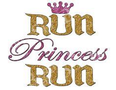 Run Princess Run Marathon Jpeg Digital Image Iron by ReadySetBrag