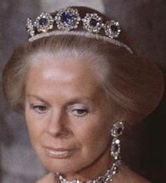 Tiara Mania: Cambridge Sapphire Parure Necklace Tiara worn by Duchess Katharine of Kent
