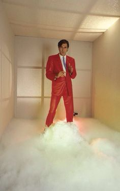 Roxy Music Bryan Ferry - he wore a red leather suit when we saw him in Boston.