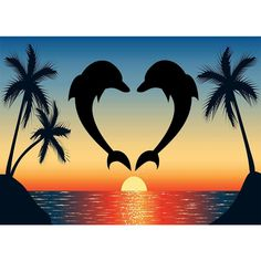 Diamond Painting - Full Round - Dolphin Love
