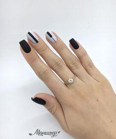 Fotografia Minimalist Nails, Orange Nails, Black Nails, Nail Polish Designs, Nail Art Designs, Nail Manicure, Gel Nails, Cute Nails, Pretty Nails