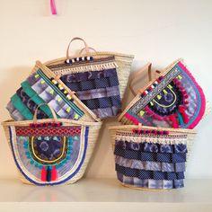 Handmade by Carolina Bernardo #indigo + #neon + #tiedye #cestas #alcofas #praia #shibori #beachwear #beachstyle #beachbasket #carolinabernardo