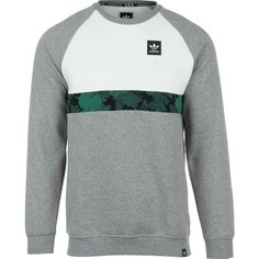 adidas Colorblocked Crew Sweatshirt ($55) ❤ liked on Polyvore featuring men's fashion, men's clothing, men's hoodies, men's sweatshirts, mens sweatshirts, mens crewneck sweatshirts, mens crew neck sweatshirts and mens sweatshirts and hoodies
