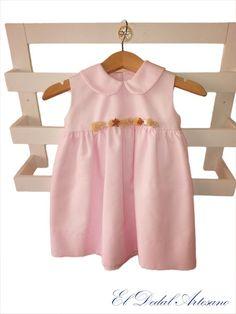 El Dedal Artesano: Vestido infantil rosa
