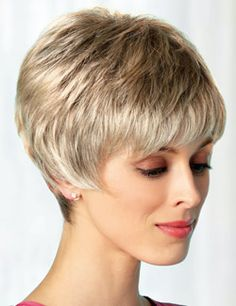 Find the Rosie Wig by Rene of Paris Amore. Tamed or tousled this sassy cut has a winning personality. Short Blonde Haircuts, Cute Hairstyles For Short Hair, Wig Hairstyles, Short Straight Hair, Short Hair Cuts For Women, Wig Styles, Short Hair Styles, Rene Of Paris Wigs, Celebrity Wigs